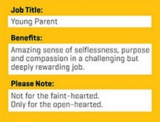 Young Parent Job Requirements Flyer