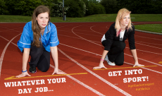 Cheerleaders Rachel Blatch (25) and Charlotte Jenner (18), passionate about getting girls into sport, are using a poster campaign to encourage young people to explore the activities that are available in their area.