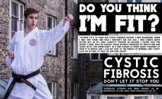 Ryan Stephenson, 22, from Hull, has made a poster encouraging people with cystic fibrosis to get fit