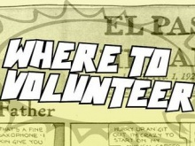 The leaflet offers information on where to volunteer