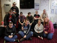 The group from Derby College.