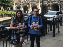 Jenny and Gabriel deliver the report to Parliament