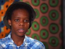 Skhumbuzo fled Zimbabwe after she was attacked for being gay
