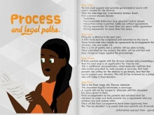 The booklet looks at the divorce process
