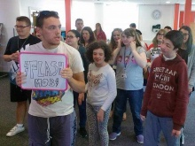 Lee and his team organised a flash mob at their college