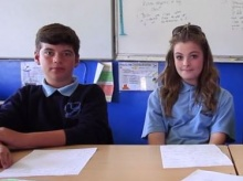 Year 7 students offer advice to younger pupils in the film