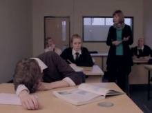 A young carer falls asleep in class in the Fixers film