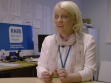 Donna McNicholl works as a project co-ordinator at RNIB