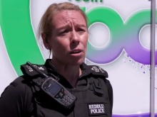 Sergeant Tracey Llewellyn appears in Caitlin's broadcast film