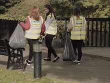 Young people volunteering