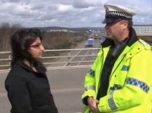 Thorrun speaks with PC Mike Hewitt