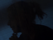 A clip from the film showing a woman's silhouette