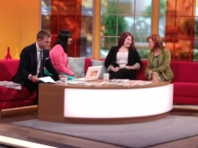 Natalie with the ITV Daybreak presenters