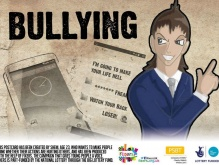 A postcard shows the consequences of bullying
