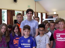 Ross with children from the club