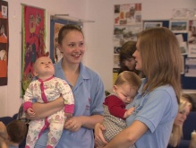 Children being cared for by members of Tidworth Mums
