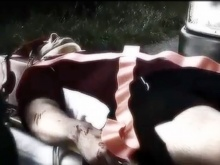 The main character injured after his accident