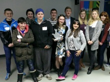 Young people attend a workshop in Belfast