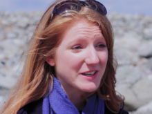 Charlotte Foster from Newcastle University says coastline pollution is a large problem