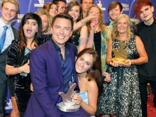 John Barrowman presents Fixers with the award a year ago