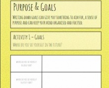 The resource encourages young people to focus on their goals
