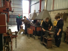 The students taking part in the workshop