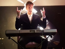 James Partridge on the keyboard