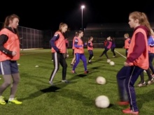 Rosie spoke to players from Carlisle United Ladies FC