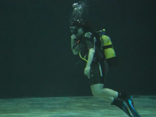 Scuba diving gives Janie a release