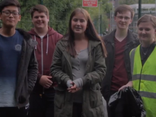 A group of young people have created a film