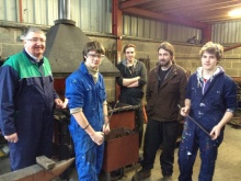 Nick and Tom with workshop participants and MP Roger Williams