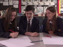 Pupils take part in a workshop at Lydiard Park Academy