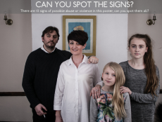 A poster campaign highlighting ten signs of domestic abuse in the home.