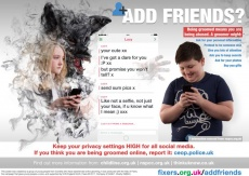 Georgia Goodman, 19, from Ambleside, has created a poster to show children the dangers of online grooming