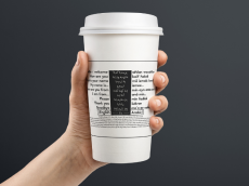 Shano Khorshed and her team have designed these coffee sleeves with Fixers to welcome refugees to the UK.