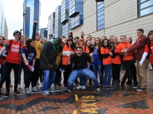 Stephen Sutton and his team at the original Good Gestures Day