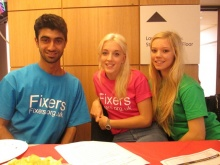 Fixers Aadam, Jess and Grace at the quiz