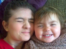 Karis and her sister Lydia, who has epilepsy
