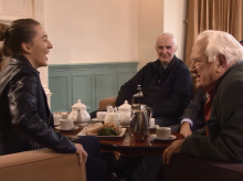 Sarah meets older members of her community